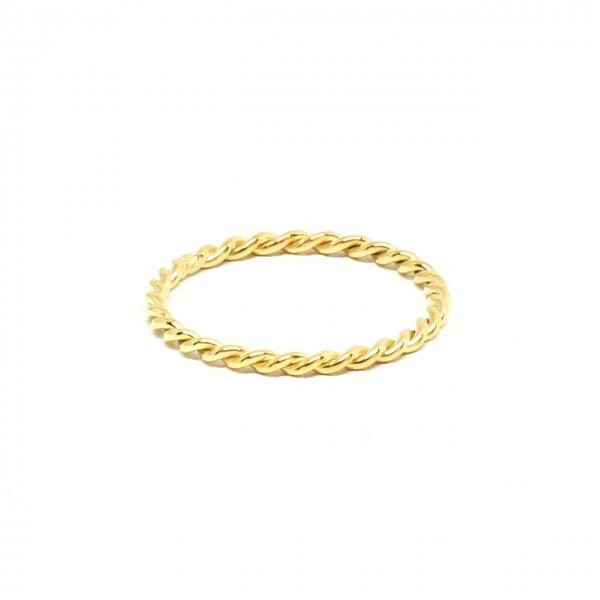 Ring in 333 Gelbgold gekordelt schmal