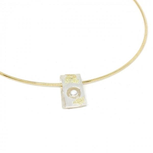 Silberanhänger mit Goldstaub