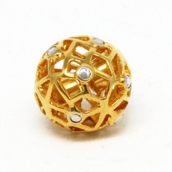 Wechselschließe Gitterkugel 14 mm vergoldet
