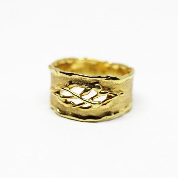 Ring in 333 Gelbgold Gitter