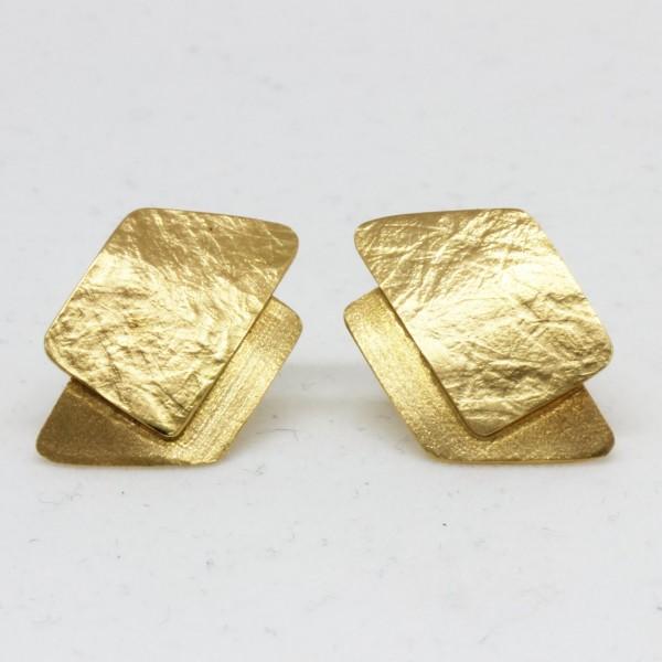 Ohrstecker aus 333/- Gelbgold Seitenmatt