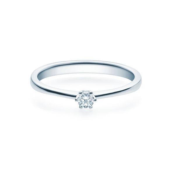 Verlobungsring Weißgold 585/- 0,10 ct