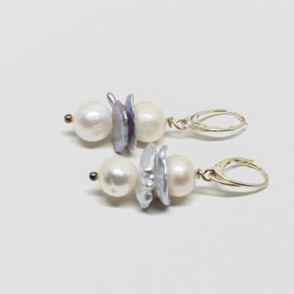 Ohrhänger Silber Perle