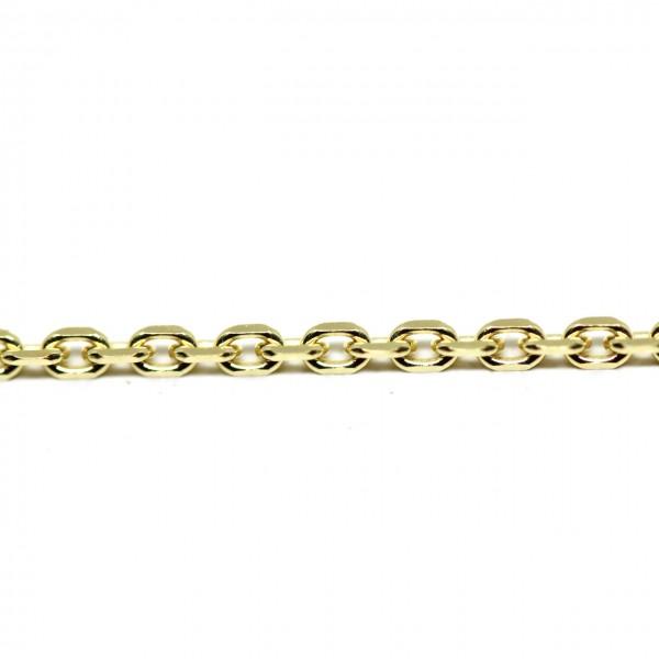 Collierkette Anker diamantiert 333 Gelbgold 38 cm