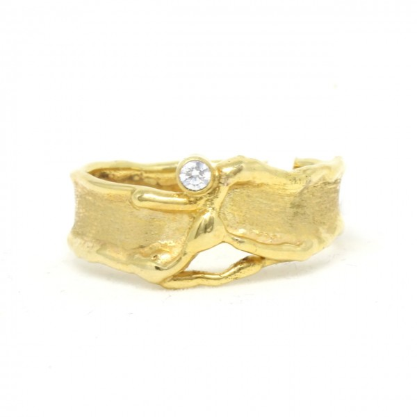 Ring in 333/- Gelbgold mit Zirkonia