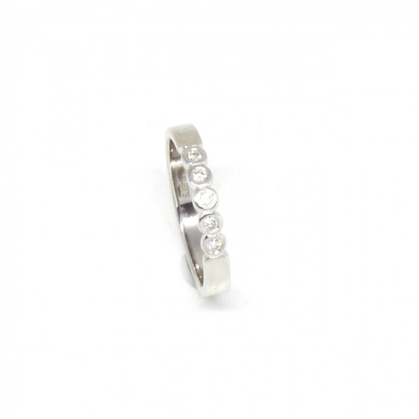 Memory Ring in 585 Weißgold 0,10 ct
