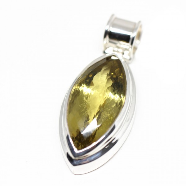 Silberanhänger mit Lemonquarz