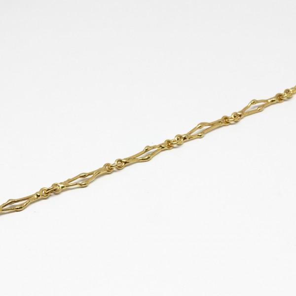 Armband in 333 Gelbgold Handarbeit Stäbchen
