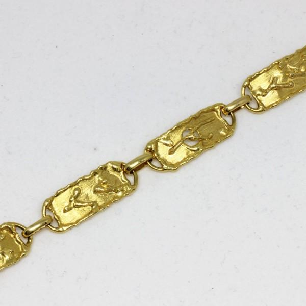Armband in 585/- Gold mit Struktur