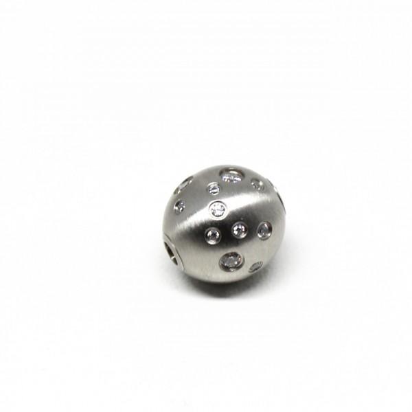 Wechselschließe Edelstahl 14 mm Zirkonia