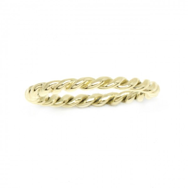 Ring in 585 Gelbgold gekordelt
