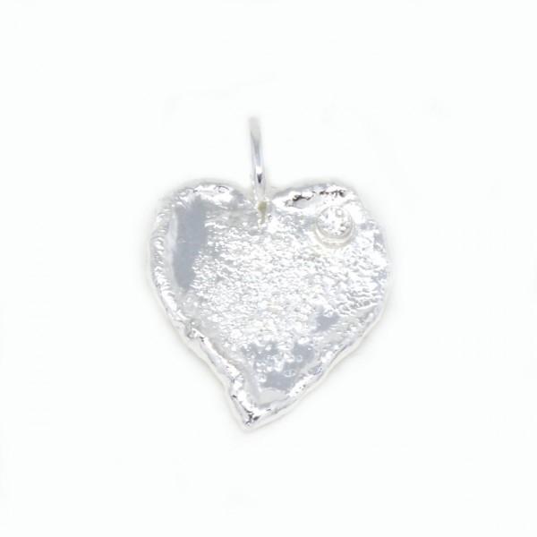 Silberanhänger Herz mit Zirkonia