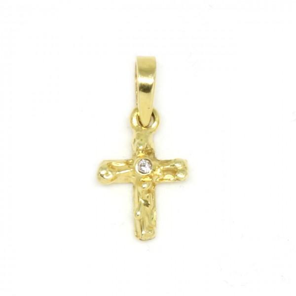 Anhänger Kreuz in 585/- Gelbgold