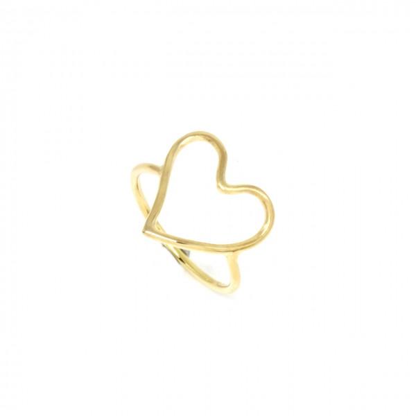 Ring in 333 Gelbgold Herz