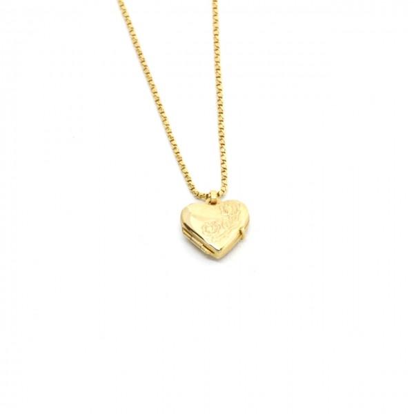 Anhänger Medallion in 333 Gelbgold Herz