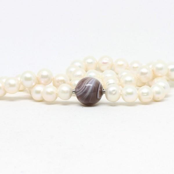 Start-Set Wechselkette Perle mit Achatkugel