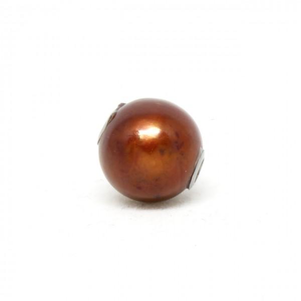 Wechselschließe braune Perle