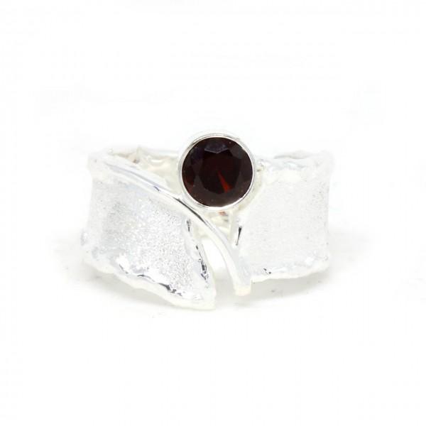 Stein des Monats Januar Silberring Granat