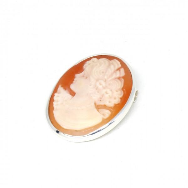 Wechselschließe Muschelgemme Silber