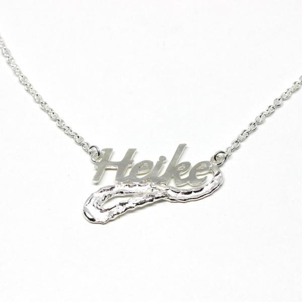 Collier Silber Namenskette Handarbeit