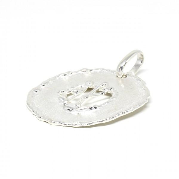 Silberanhänger rund mit Gitter