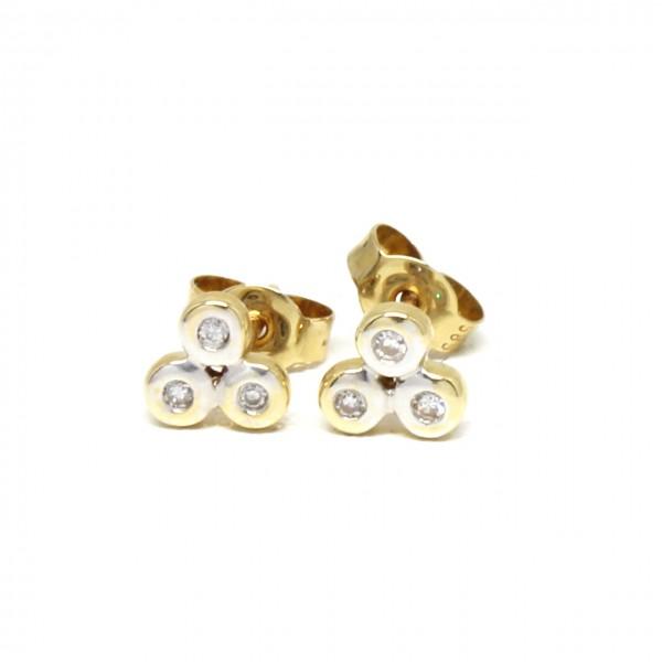 Ohrstecker 585 Gelbgold Kreise