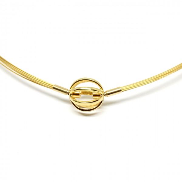 Wechselkette Edelstahl Gold 42 cm