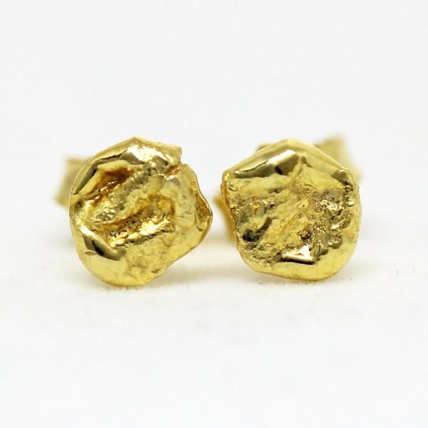 Ohrstecker Nugget aus 333/- Gelbgold