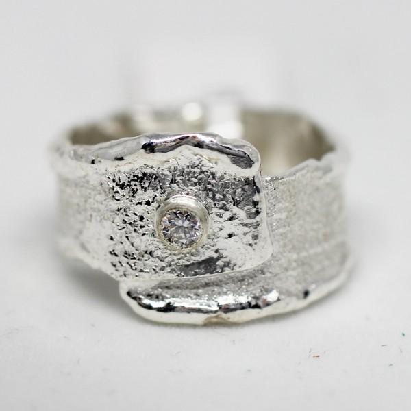 Silberring Handarbeit Zikonia