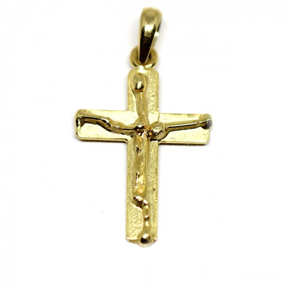 Anhänger Kreuz 585 Gelbgold
