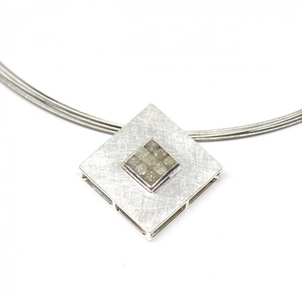 Wechselschließe Silber mit Rohdiamant