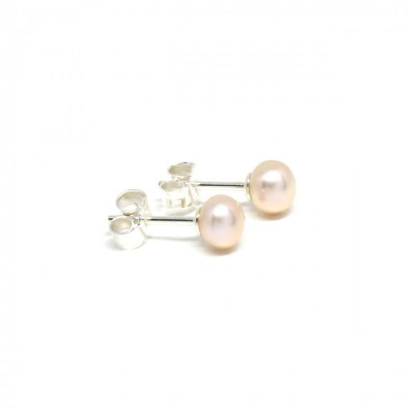 Ohrstecker Silber Perle rose´