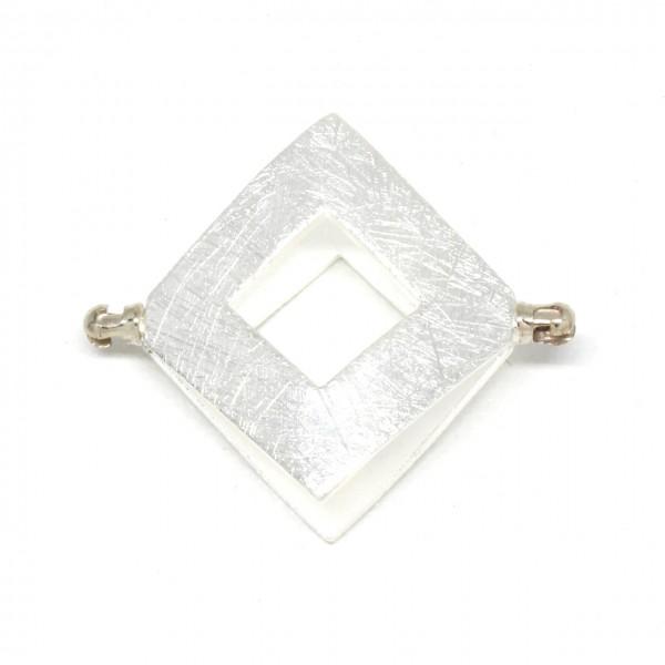 Adapter Silber Quadrat Eismatt