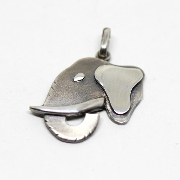 Silberanhänger Elefantenkopf
