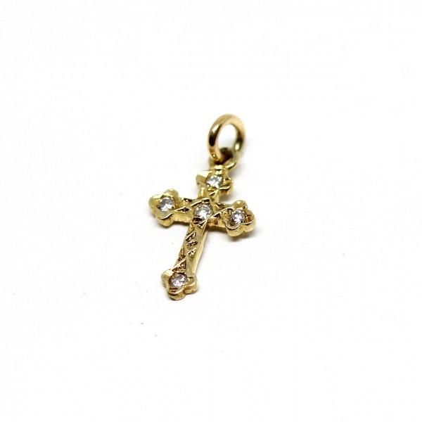 Anhänger Kreuz 585 Gelbgold Antik