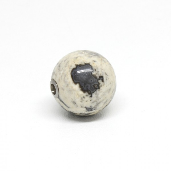 Wechselschließe Jaspiskugel grau gemasert 16 mm