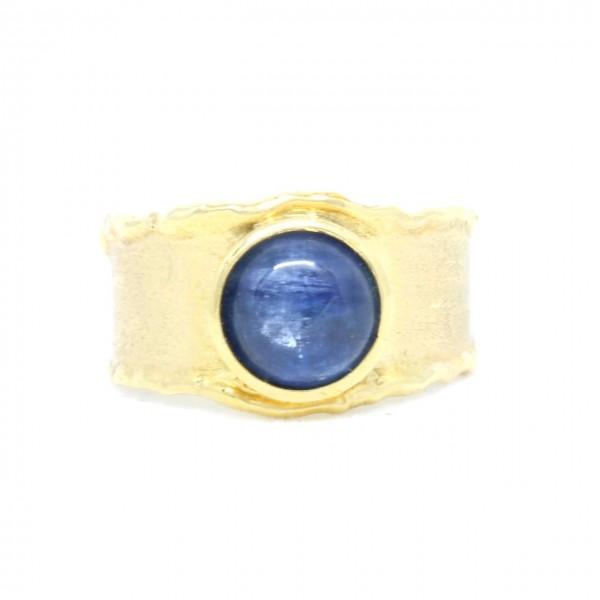 Ring in 333/- Gelbgold mit Disthen