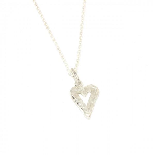 Silberanhänger Herz Handarbeit