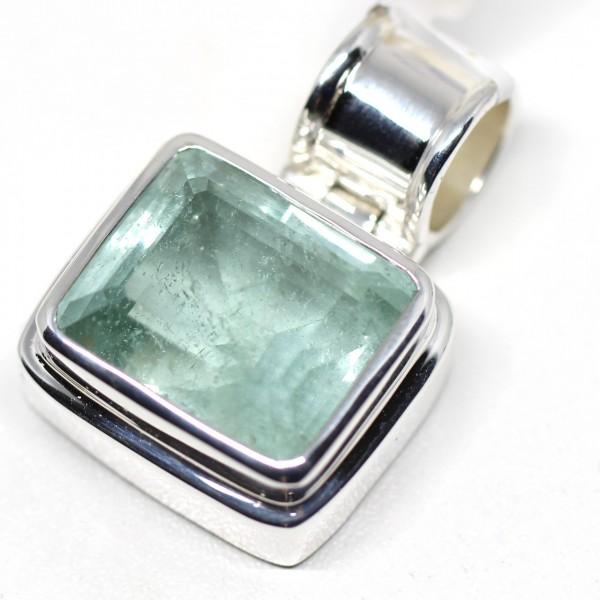 Silberanhänger mit Aquamarin