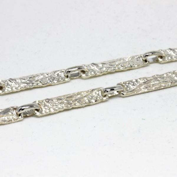 Collier Silber massiv Struktur