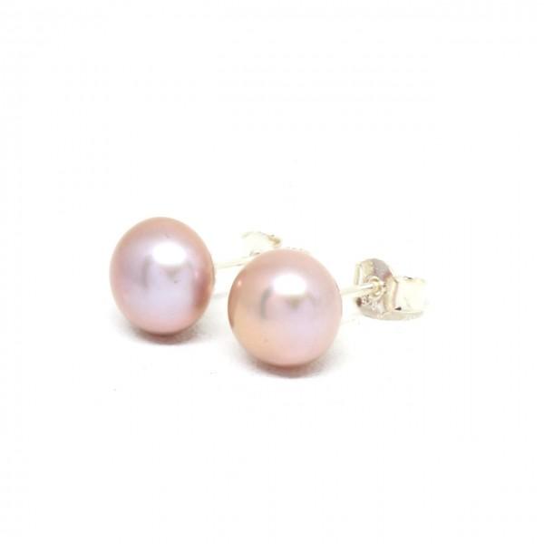 Ohrstecker Silber Perle rosa