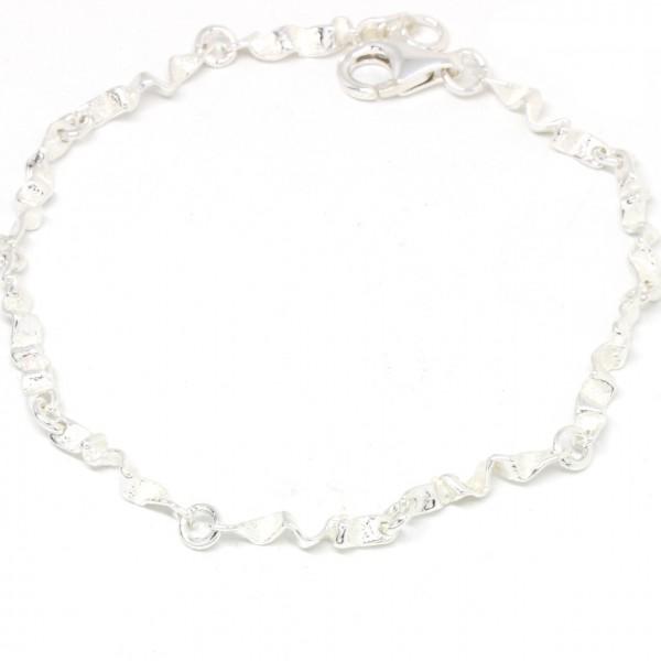 Armband Silber Knitteroptik