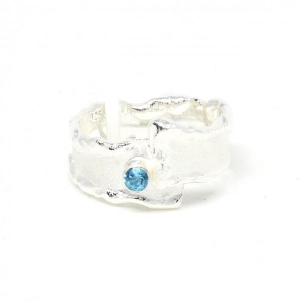 Silberring mit Blautopas