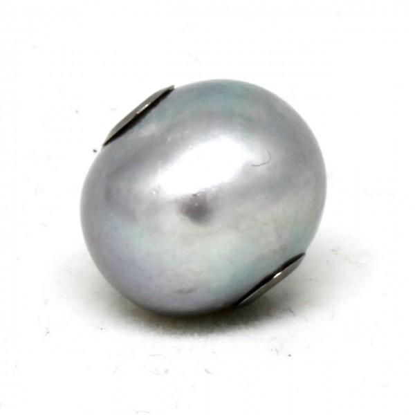 Wechselschließe kleine graue Perle