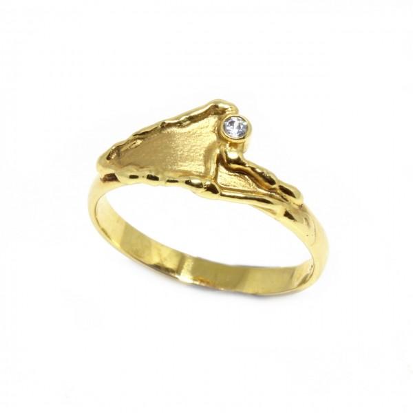 Ring in 333 Gelbgold mit Zirkonia