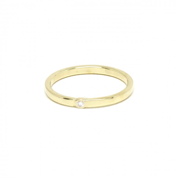 Ring in 585 Gelbgold mit 0,035 ct Brilliant