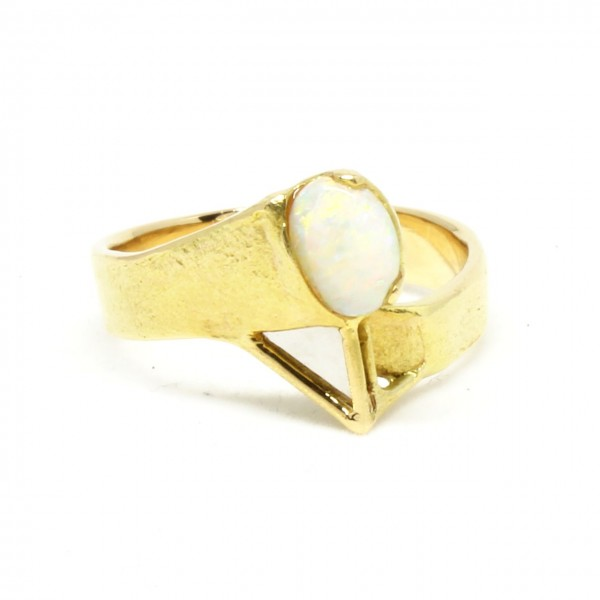 Ring in 750/- Gelbgold mit Opal