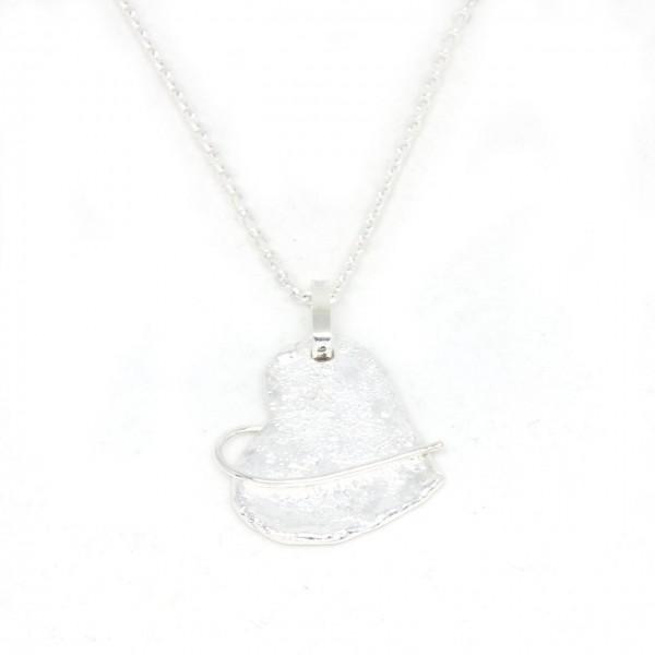 Silberanhänger Herz mit Struktur
