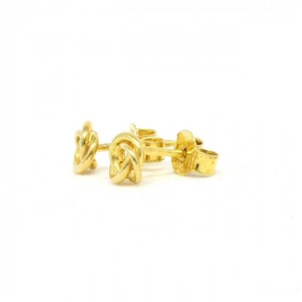 Ohrstecker 585 Gelbgold Knoten