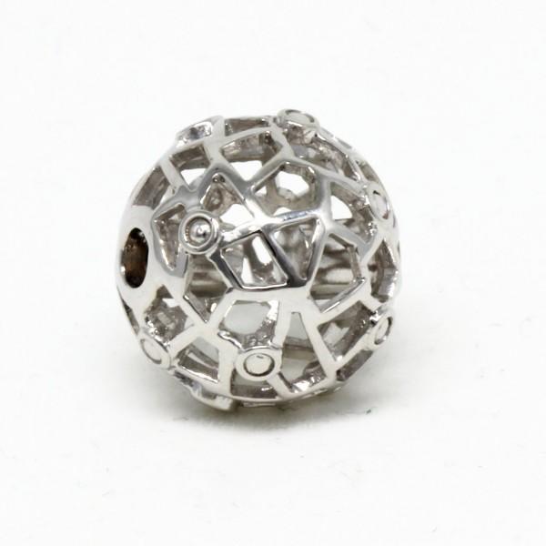 Wechselschließe Gitterkugel Silber